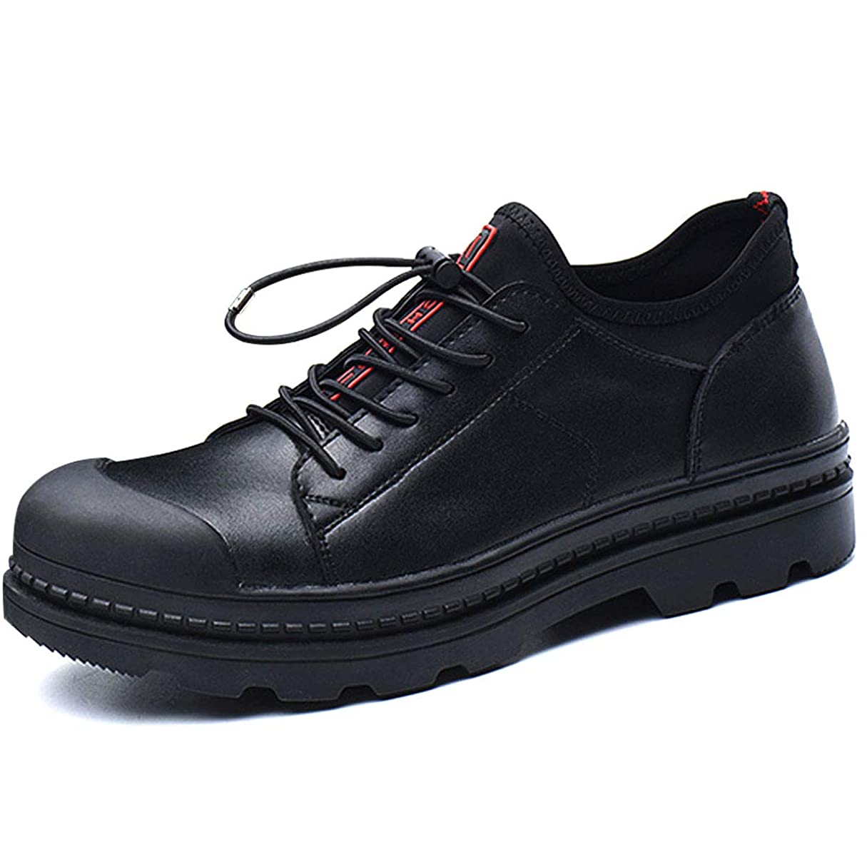 委託申請者変形する[CHNHIRA] メンズ レディース 安全靴 作業靴 先芯入 スニーカー ファション 耐磨耗 四季通用 結ばない靴ひも デッキシューズ