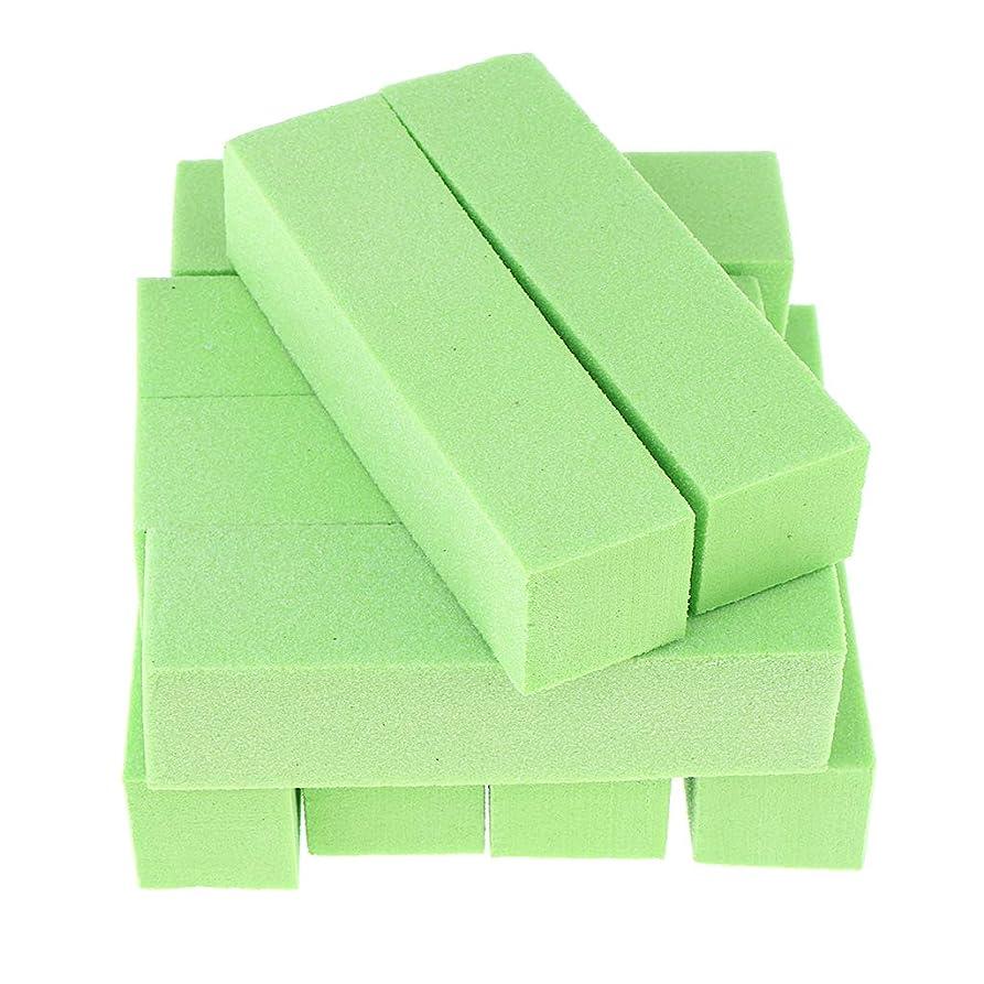 ステレオ対話分割ネイルアート ネイルファイル ネイルバッファブロック 爪やすり - 緑