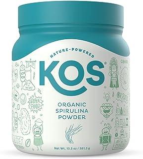 Sponsored Ad - KOS Organic Spirulina Powder - Pure, Non-Irradiated Blue Green Spirulina - Rich in Protein, Vitamins, Antio...