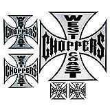 5 adesivi West Coast Choppers croce di Malta