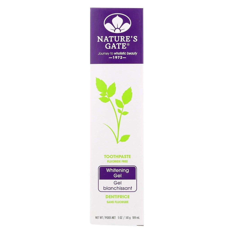 裏切り賢いフォアタイプ海外直送品Nature's Gate Dental Therapy Whitening Gel, 5 Oz (Pack of 6)