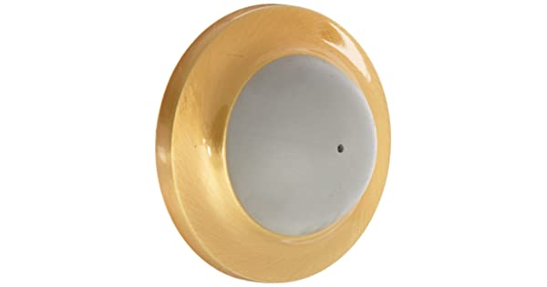 2-7//16 Diameter 8 x 1 RH WS Fastener with Plastic Anchor Rockwood 401.10 Bronze Convex Solid Cast Wall Stop Satin Clear Coated Finish 8 x 1 RH WS Fastener with Plastic Anchor 2-7//16 Diameter Rockwood Manufacturing Company