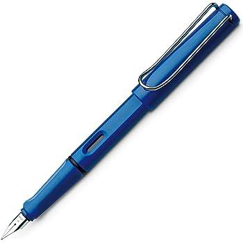 LAMY safari Füllhalter 014 – Moderner Füller in der Farbe Blau mit ergonomischem Griff und zeitlosem Design – Federstärke M