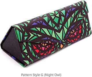 Eyeglass Cases Glasses Case Pattern Painted Hard Shell Foldable Portable