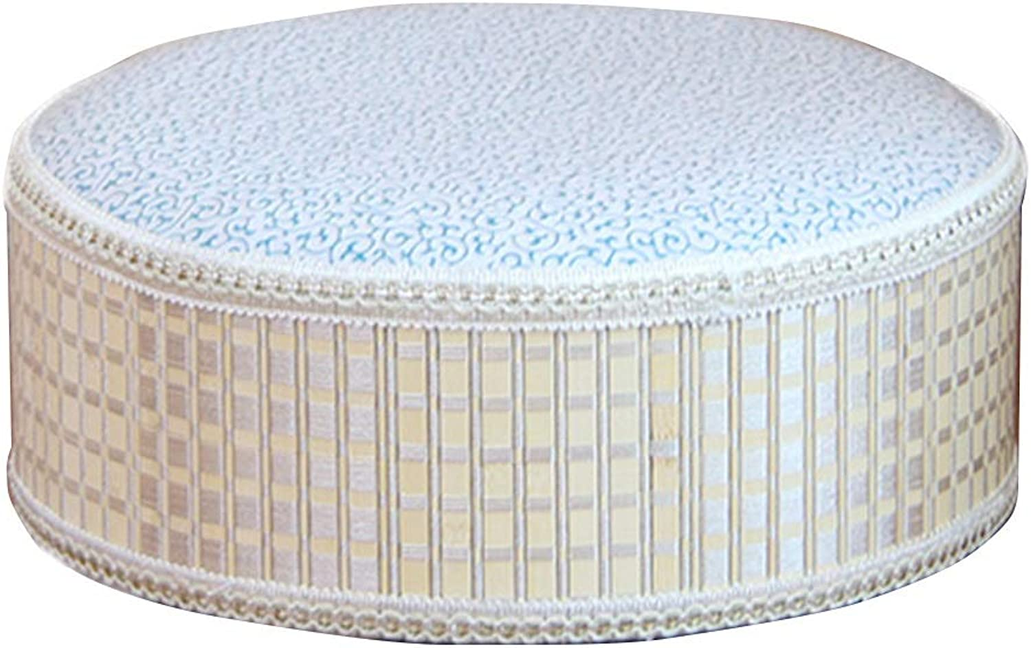 Pouffes and Footstools Creative Bamboo Low Stool Seat Comfortable PU Cushion , 8 Styles ( color    A-30x30x12cm )
