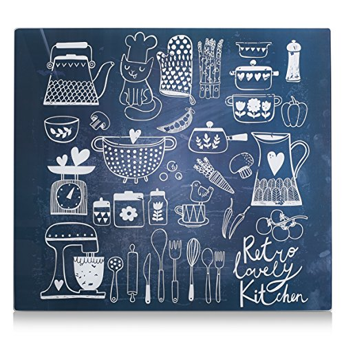 Zeller 26309 Placa de Panel de Cocina, Multicolor, 56x50x3 cm