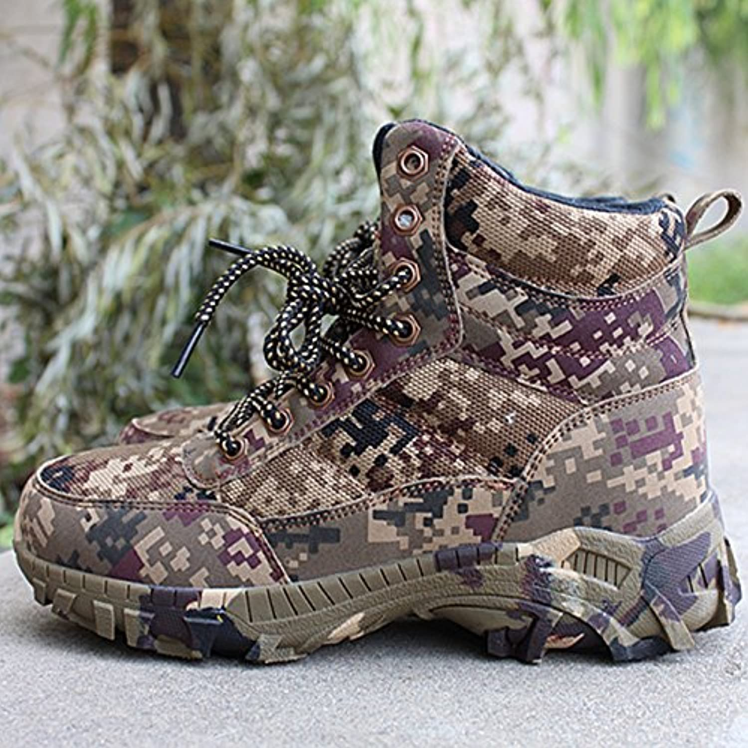 Winter cold, warm, high cylinder boots, outdoor men's camouflage boots, snow boots