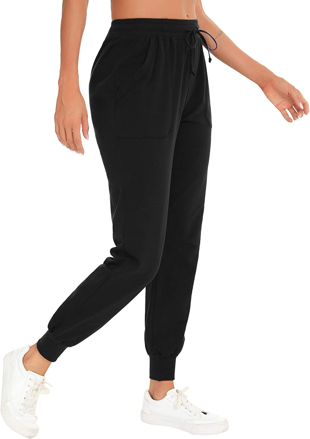 Hawiton Womens Jogger Yoga Pants,Athletic Casual Sports Trousers Sweatpants Bottoms with Pockets