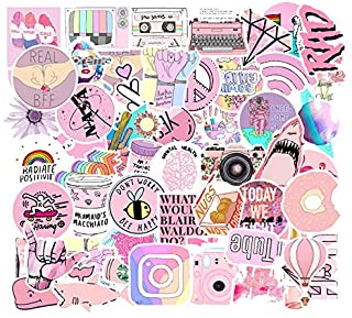 53PCS/lot Cartoon Pink INS Style Vsco Girl Stickers For Laptop Moto Skateboard Luggage Refrigerator Notebook Laptop Toy St...