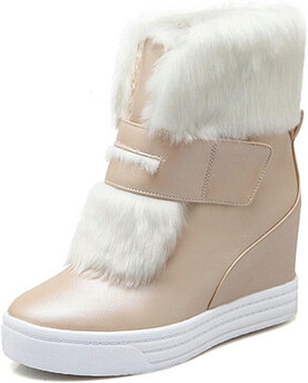 Kongsta Warm Faux Fur Waterproof Snow Boots Women Winter Fashion Ladies Ankle Boots Big Size