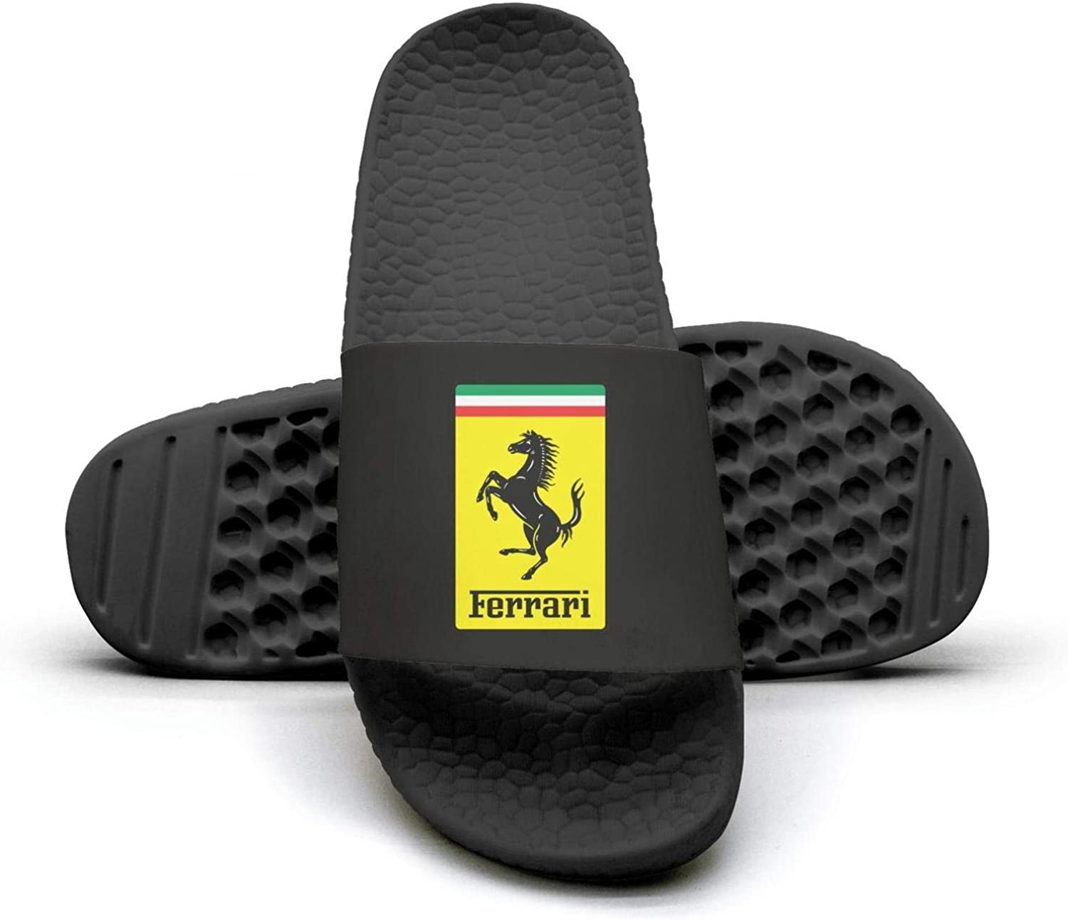 EIGKASL Printed Non-Slip Slipper Slide flip Flop Sandals Ferrari-Logo-Symbol-Summer Stylish for Womens