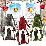 GOLRISEN Gnomos de Navidad Peluche, 3 Unidades Muñecos Navideñas Grandes, Decoración Navideña...