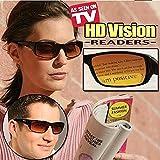 HD Vision Readers- BiFocal Sunglasses, Black 3.5