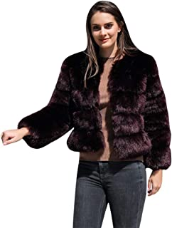 Moda para Mujer Ropa De Abrigo De Piel Sintética Sólida Cárdigan Botón Suelto Bolsillo Abrigo Corto 2019 Nuevo Chaqueta Casual Abrigos Mujer