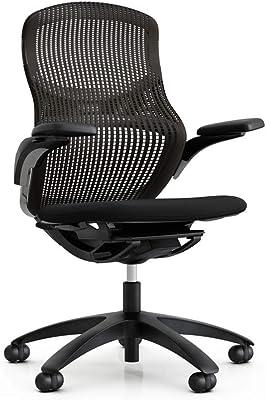 KNOLL(ノル) オフィスチェア ジェネレーション Generation メッシュ ミドルバック [フレーム色:ダーク、座面カラー:オニックス、背面カラー:エスプレッソ] KNGL-57H-D20906