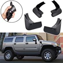 SPEEDLONG 4Pcs Car Mud Flaps Splash Guard Fender Mudguard for Hummer H2 2007 2008 2009 2010