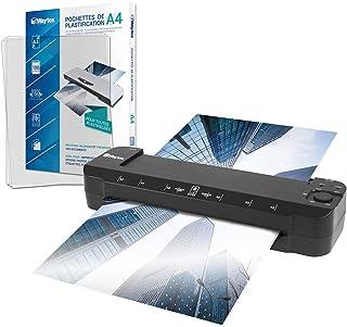 Plastifieuse A3 A4 A5 A6 A7 Pro Ultra Rapide à Chaud et à Froid jusqu'à 2x150 microns Température Réglable pour Usage Prof...