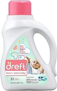 Dreft Stage 2 Active Baby Laundry Detergent - Original Baby Fresh Scent - 50 oz
