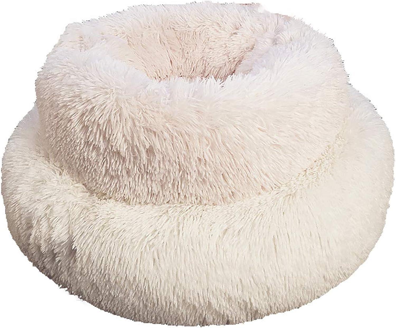 HEISHOP Pet Products Deep Sleep Dog Kennel Cat Kennel Washable Medium Dog Warm Teddy Bed,White,M