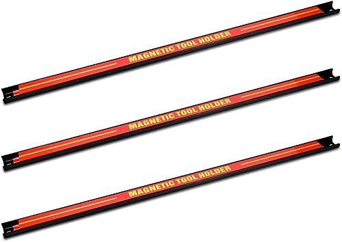 Navaris 3x barre magnétique pour outils - Baguette aimantée accroche murale divers outils - Rangement outillage maiso...