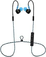 Aduro Amplify SBN90 Wireless in Ear Bluetooth Sport Stereo Headset w/Memory Wire, Noise Cancelling Tech, Ergonomic Design, Secure Fit, Built in Mic (Blue)
