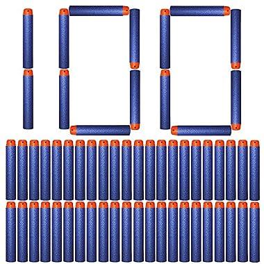 AMOSTING Bullets Ammo Pack for Nerf N-Strike Elite Series – Blue Refill Darts 100PCS