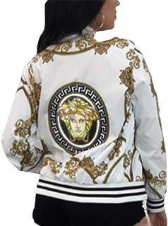 Women Printed Jacket Outdoor Windbreaker Lightweight Bomber Jackets and Coats