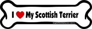 Imagine This Bone Car Magnet, I Love My Scottish Terrier, 2-Inch by 7-Inch