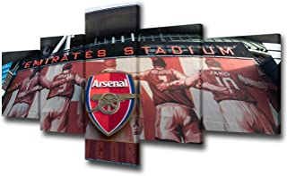 5 Piece Sports Wall Art Arsenal Football Club Picture Prints Soccer Canvas Art London Emirates Stadium Modern Canvas Artwork for Living Room Bedroom Office Wall Decor Framed Ready to Hang -50