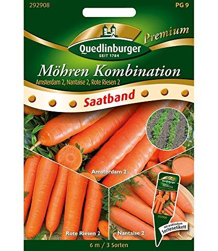 "Saatband Möhren Kombination\""Amsterdam 2, Nantaise 2, Rote Riesen 2\"",1 Portion"