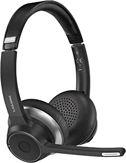 Soulsens Computer Headset with Microphone, CVC 8.0 Wireless Headphones with Noise Canceling Mic for Home Office, Comfort F...