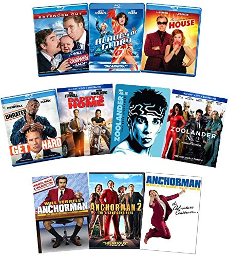 Will Ferrell Manufacturer regenerated product Cheap mail order sales 10-Movie Blu-ray Comedy Collection: DVD Zoolander