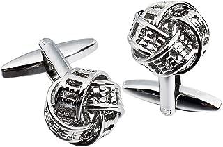 Accessoire de mode bijoux Boutons de manchette tendances carr/és en fibre de carbone Hawson