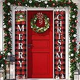 Christmas Porch Banner,Porch Christmas Decorations, Merry Christmas Banner, Christmas Porch Sign,Christmas Hanging Porch Sign, Xmas Hanging Decoration