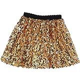 Flofallzique Sparkly Skirts for Girls Sequins Toddler Gold Skirts Tutu Kids(6, Gold)