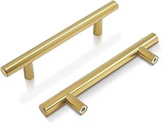 Mostof 6PCS Gold Handle for Resin Casting Mold Drawer Kitchen Hardware Brass Cabinet Door Handles Bathroom