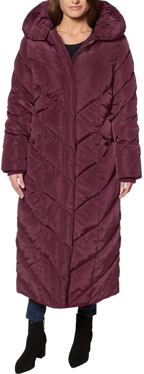 wine red long bubble coat women sale warm winter stylish
