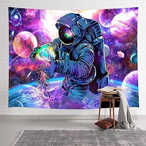 rzskdjgv Tapiz De Astronauta De La Nebulosa De La Galaxia, Tapices Coloridos para Colgar En La Pared De Arte Espacial Cósmico para La Decoración del Hogar De La Sala De Estar 240X260Cm