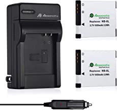 Powerextra 2 Pack Replacement Canon NB-8L Battery and charger for Canon PowerShot A2200 IS, A3000 IS, A3100 IS, A3200 IS, A3300 IS Digital Camera Battery (Free Car Charger Available)