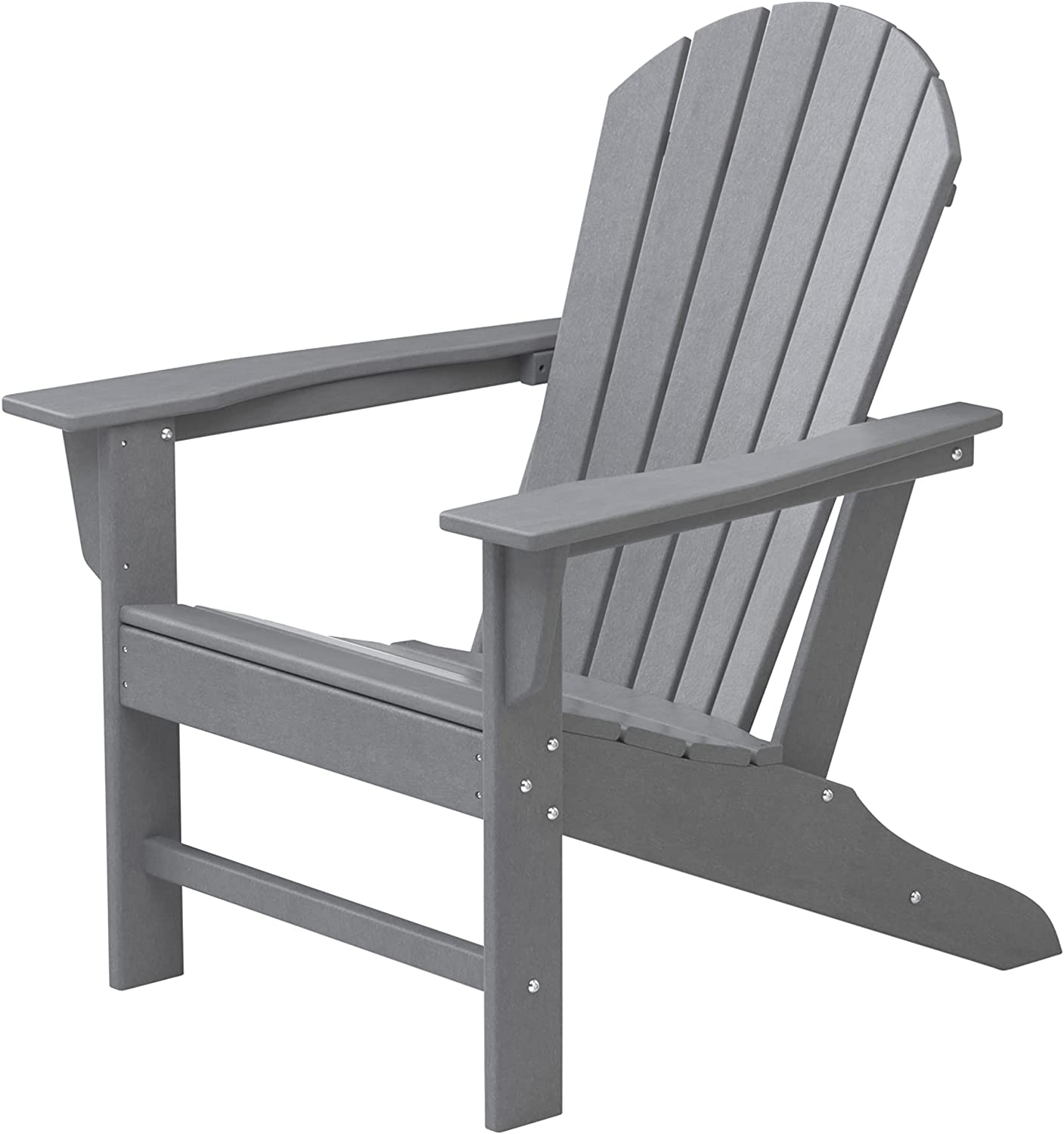 HDPE Adirondack Chair, Patio Outdoor Chairs, Plastic Resin Deck Chair, Painted Weather Resistant, for Deck, Garden, Backyard & Lawn Furniture, Fire Pit, Porch Seating by DAILYLIFE (Slate Gray) : Patio, Lawn & Garden