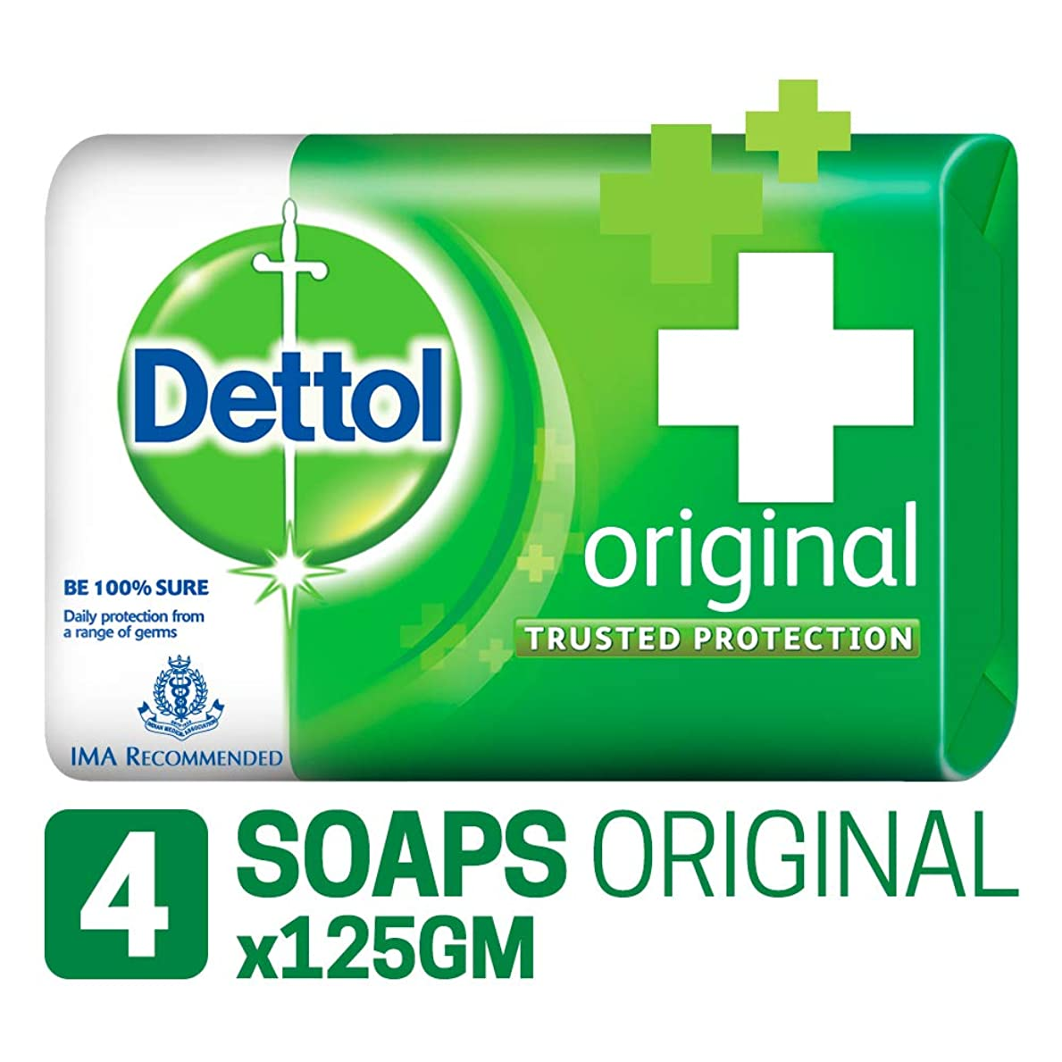 厚さフック抑制するDettol Original Soap, 125g (Pack Of 4) SHIP FROM INDIA