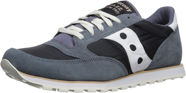 Saucony Originals Men's Jazz Low Pro Running shoes, Grey White, 7.5 Medium US