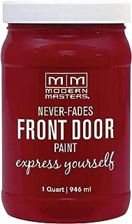 Modern Masters 275268 Front Door Paint, 1 Quart, Satin Passionate