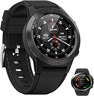Reloj Inteligente Smartwatch Al Aire Libre, Ritmo Cardíaco Deportivo para Hombres Bluetooth Fitness Tracker North Edge GPS Pedómetro Multifunción Brújula Reloj,Negro