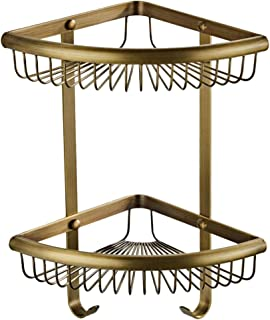 B Blesiya 浴室用ラック 洗面所ラック 浴室コーナー 収納バスケット キッチンオーガナイザー 全3色 - ブロンズ