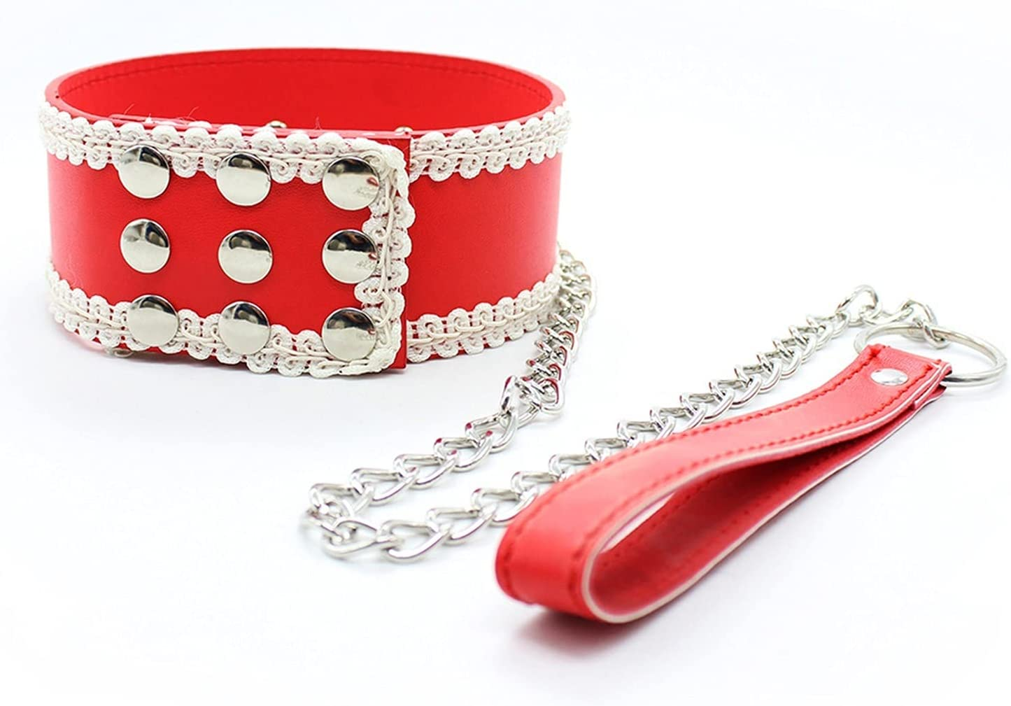 In2Ho Body Waist Belt Bedroom Decorations Party Sling Gothic Necklace Punk Collar Chain PU Leather Clavicle Collar Leash Toys Choker Rock Belt Fashion Jewelry Gifts for Adults Cosplay Women Couples
