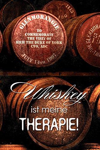 Schatzmix Whiskey ist Meine Therapie! Whisky Lustig Spruch Metal Sign deko Schild Blech Garten