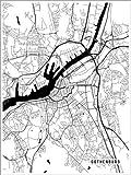 Poster 30 x 40 cm: Göteborg Schweden Karte von Main Street
