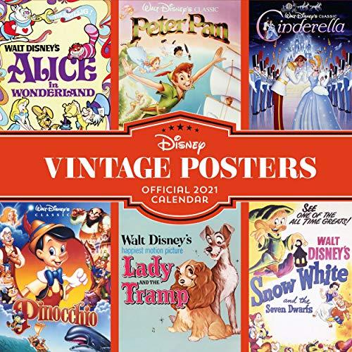 Disney Vintage Posters 2021 Calendar - Official Square Wall Format Calendar