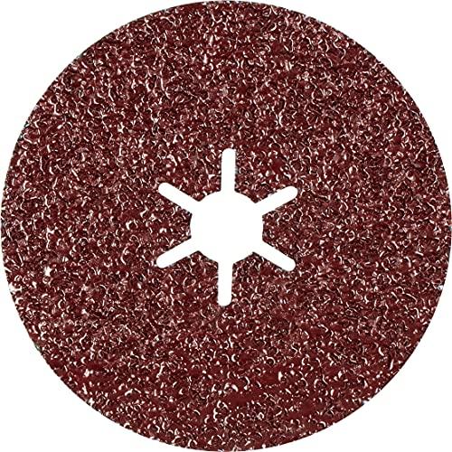 Bosch Professional 2608621788 Expert R781 Prisma-Discos de fibra de cerámica diámetro, grano 36, accesorios, Ø 100 mm